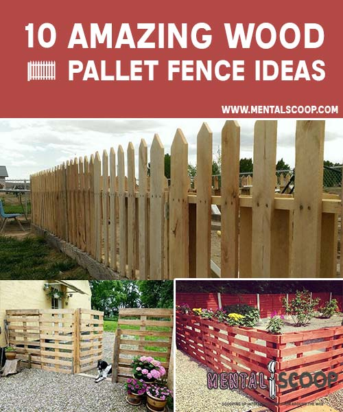 10 Amazing Wood Pallet Fence Ideas Mental Scoop