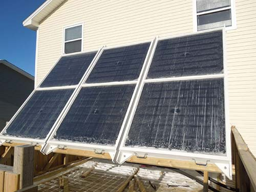 Hydronic Solar Thermal System for Winter Space Heating