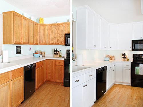 How to Paint Kitchen Cabinets Without Stripping - Mental Scoop