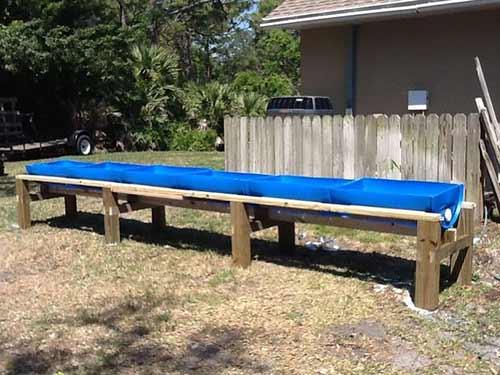 Plastic Barrel Raised Beds